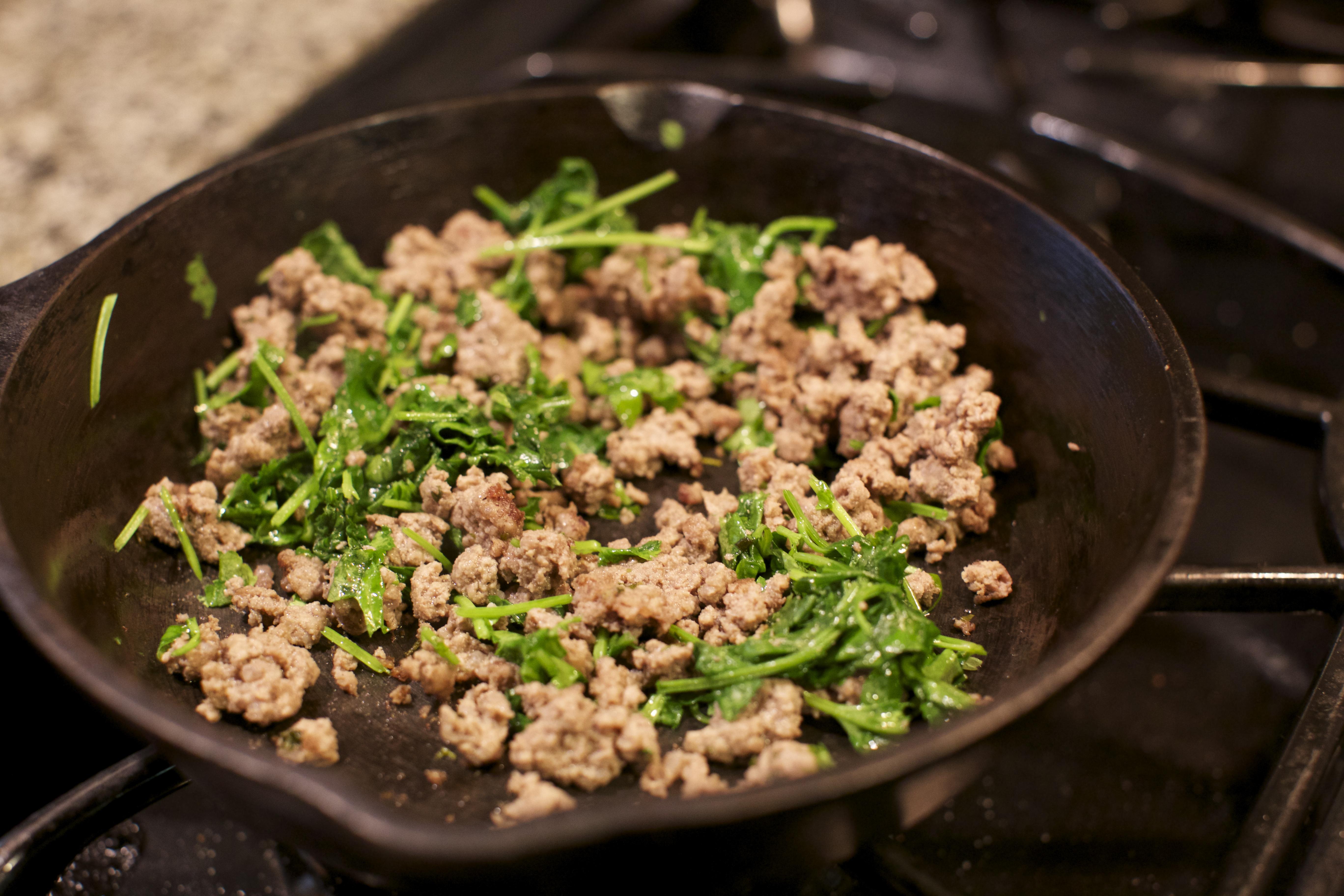 Garlic and Rosemary Ground Beef